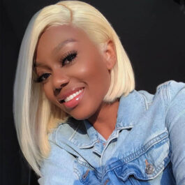 Blonde Bob- 613# virgin human hair Bob lace wig