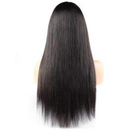 Straight 100% virgin human hair glueless lace wig