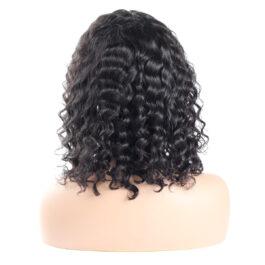 Deep wave virgin human hair 13×4  lace Bob wig