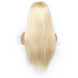 613# virgin human hair blonde undetectable lace wig-invisible lace wig-body wave & straight