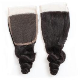 Loose wave virgin human hair 4×4 lace closure