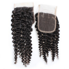 Curly virgin human hair 4×4 lace closure