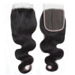 Body wave virgin human hair 4×4 lace closure