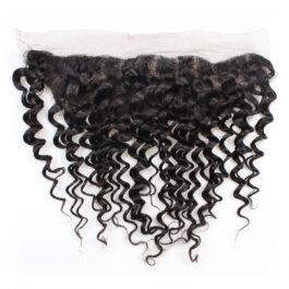 Deep wave human hair 13×4 lace frontal