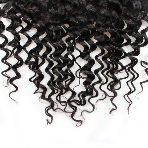 Deep wave human hair 13x4 lace frontal