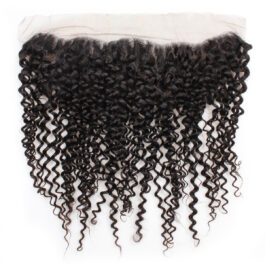 Curly virgin human hair 13×4 lace frontal