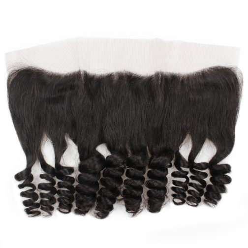 Loose wave remy human hair 13x4 lace frontal