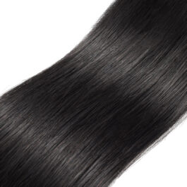 Straight natural black virgin human hair weave -3 bundles