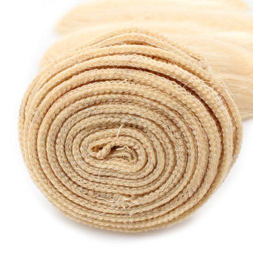613# blonde remy human hair weave bundles-body wave & straight