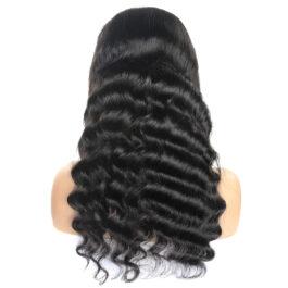 Loose deep 100% virgin human hair glueless lace wig