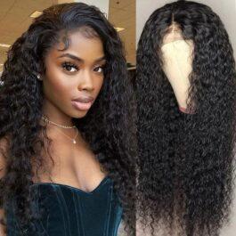 Jerry Curl 100% virgin human hair glueless lace wig