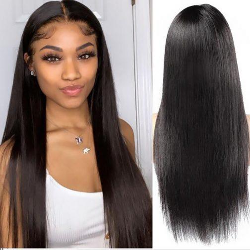 straight virgin hair lace wig