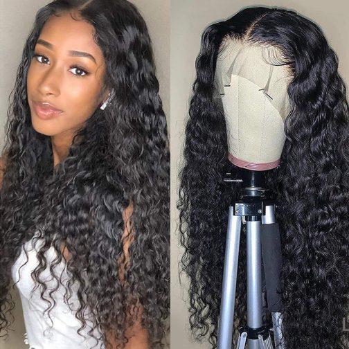 water wave virgin hair lace wig