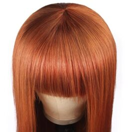 Ginger wig-glueless wig with bangs
