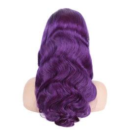 Purple lace front wig