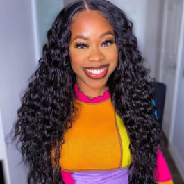 360 lace front wig – all textures pre plucked virgin human hair wig
